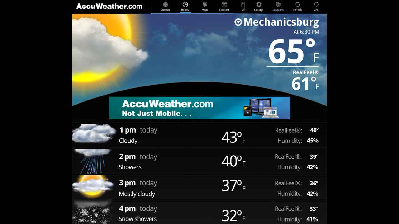 AccuWeather for Sony Tablet P- screenshot