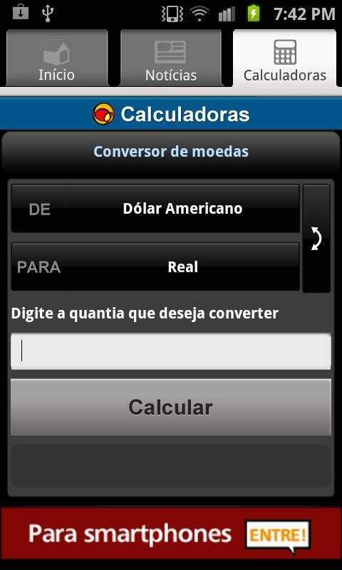 UOL Cotações- screenshot