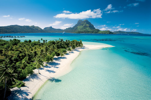 Enjoy time on Paul Gauguin's private beach in Bora Bora.