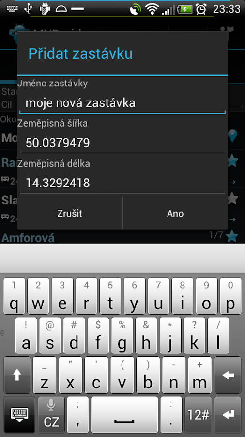 MHDroid Public Transport - screenshot