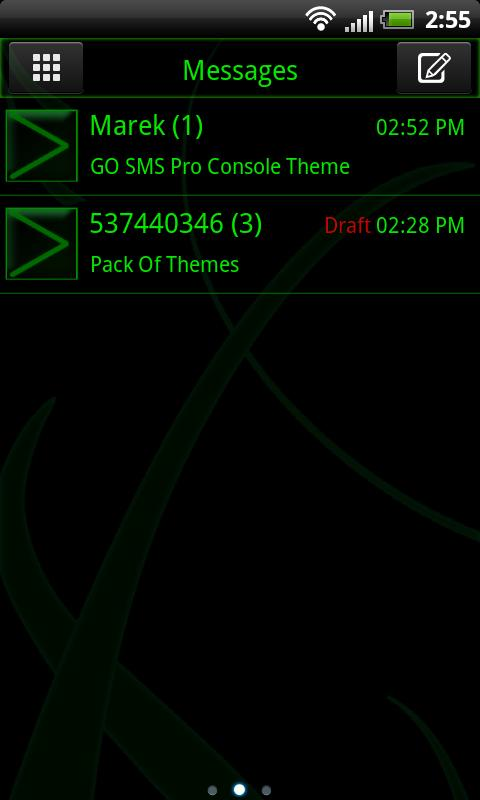 GO SMS Pro Console Theme - screenshot