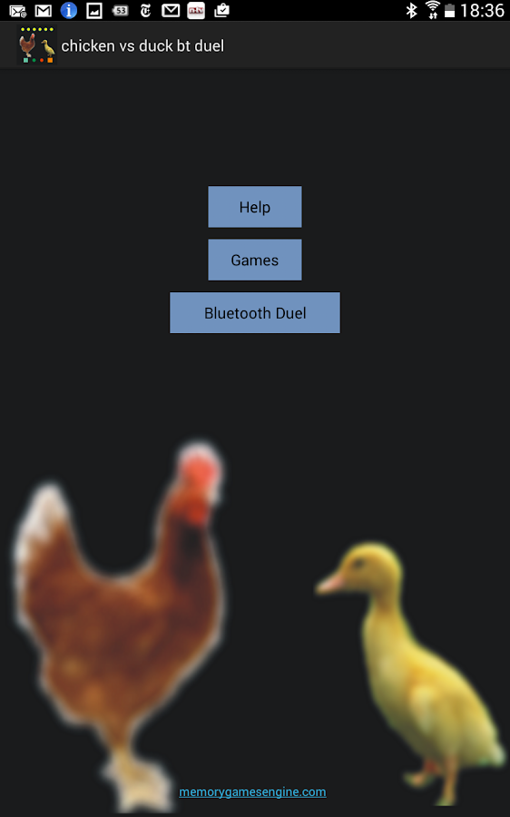 Chicken vs Duck Bluetooth Duel- screenshot