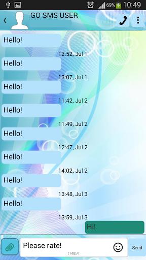 GO短信加强版彩色灯光