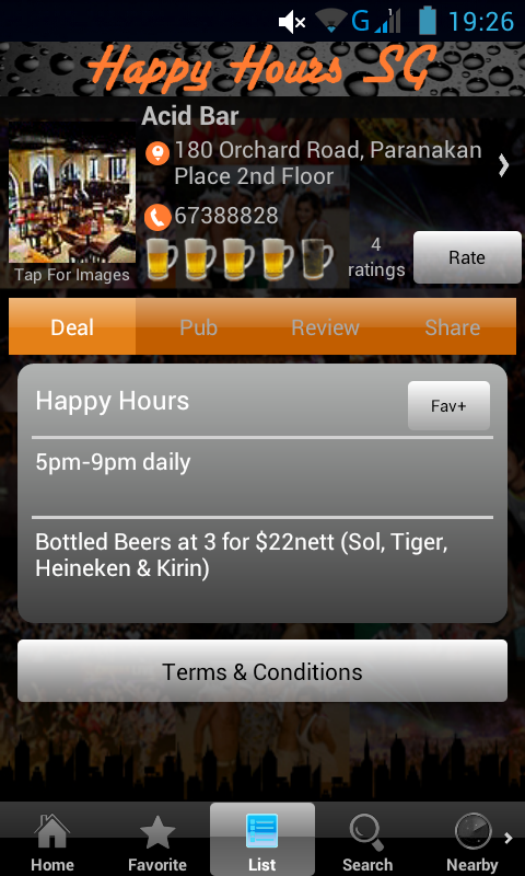 Happy Hours Singapore - screenshot