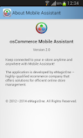 Screenshot of osCommerce Mobile Assistant
