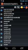 Screenshot of Spanish German Dictionary