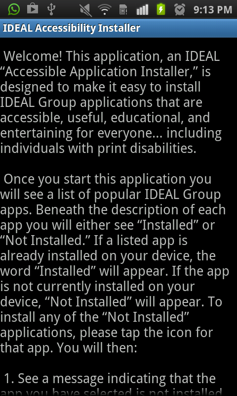 IDEAL Accessible App Installer - screenshot