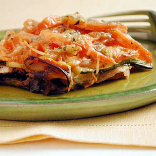 Eggplant and Tomato Gratin.