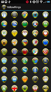 Yellow Rings for ADW APEX NOVA- screenshot thumbnail