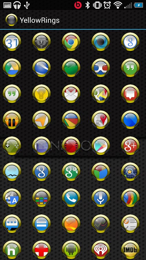 Yellow Rings for ADW APEX NOVA- screenshot