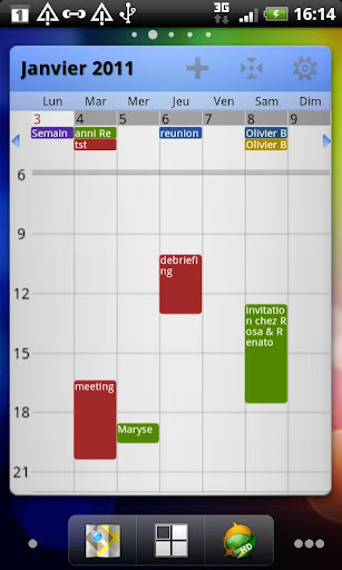 Pure Grid calendar widget v2.3.0