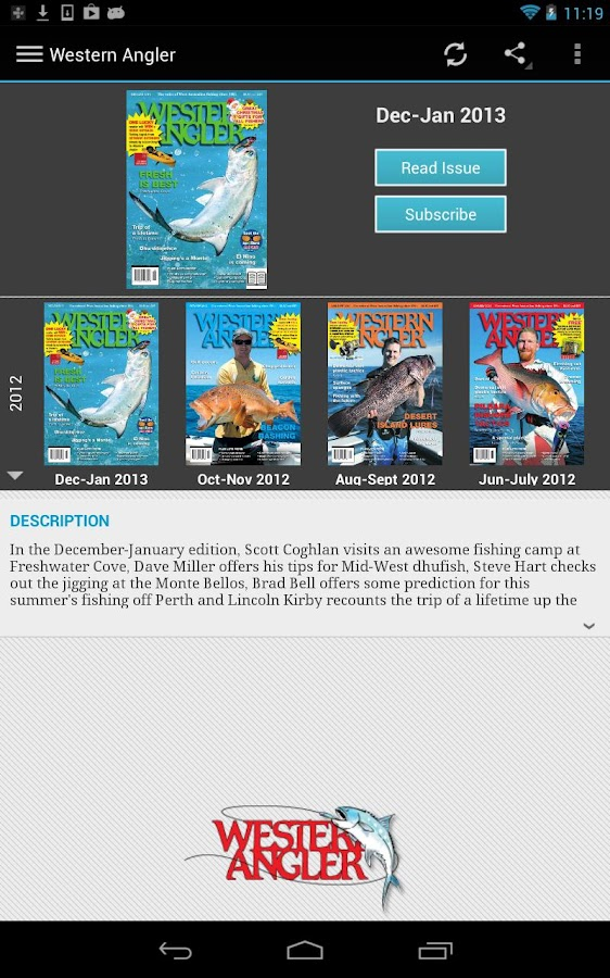 Western Angler Magazine - screenshot