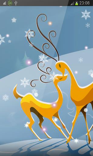 Deer Santa Happy New Year HD