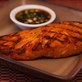 Grilled Salmon with Asian Dipping Sauce.