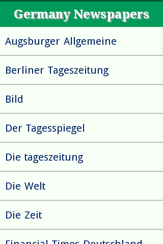 Germany Newspapers Site List