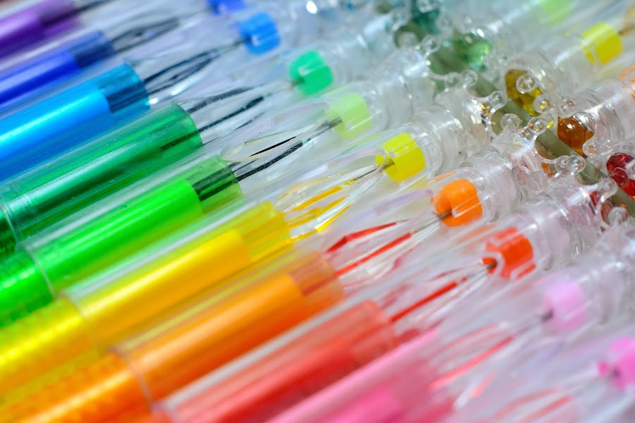 Colors Pens by Mohamed Mahdy - Artistic Objects Other Objects ( pen, macro, schools, nikon, close up, pens. colors,  )