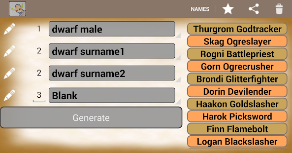 Generate Fantasy Names- screenshot thumbnail