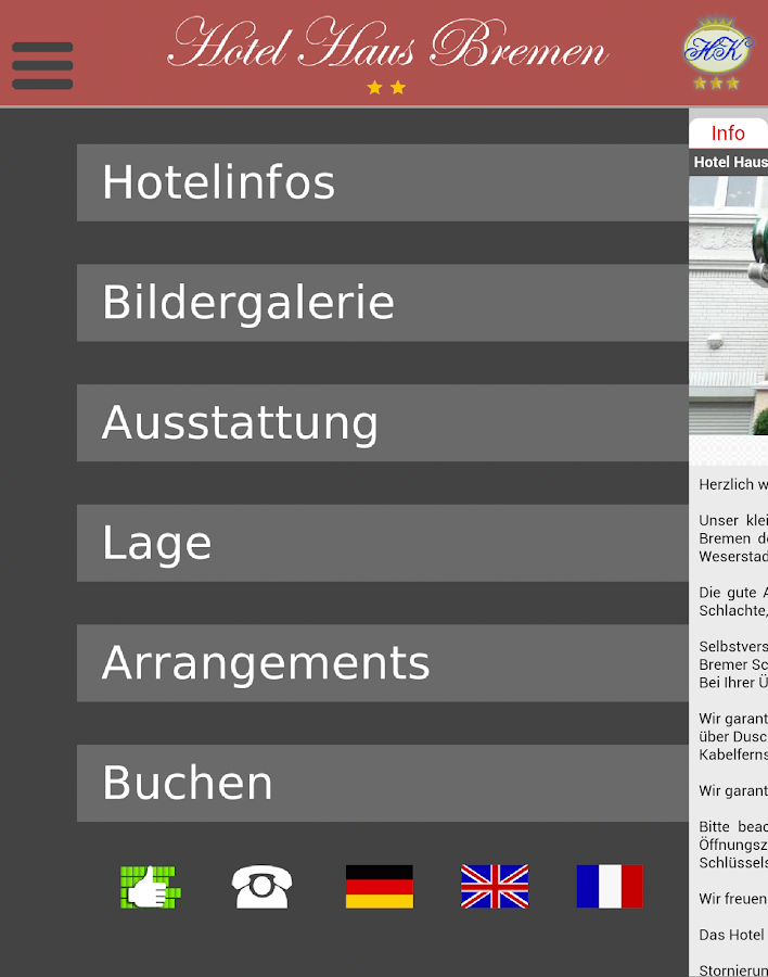 Hotel Haus Bremen- screenshot
