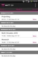 Screenshot of TimeTables - Inholland (MATT2)
