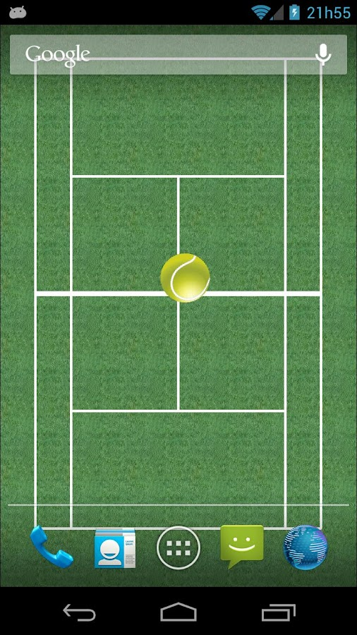 Tennis Bounce LiveWallpaper - screenshot
