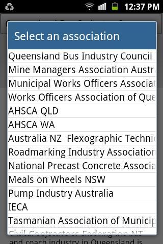 Australasian Association App