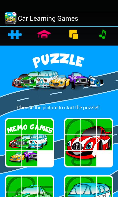 car games for little kids screenshot