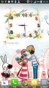 花卉藝術時鐘動態桌布 Free&Pro|玩個人化App免費|玩APPs