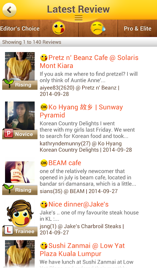 OpenRice Malaysia - screenshot