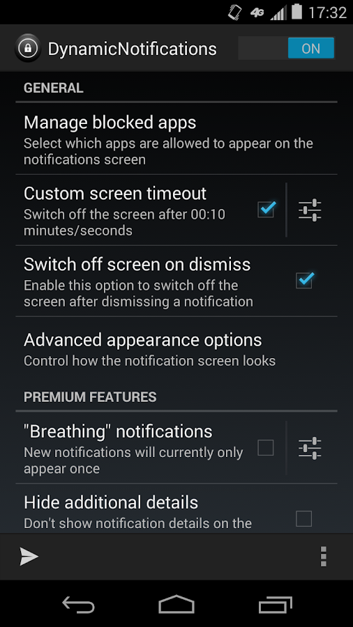 DynamicNotifications - screenshot