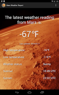 Mars Weather Report - Android Apps on Google Play