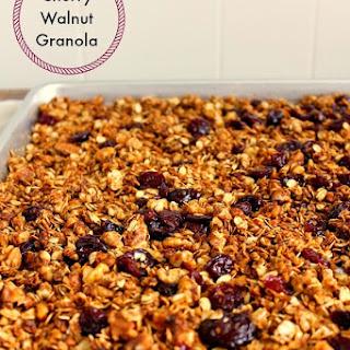 Cherry Walnut Granola
