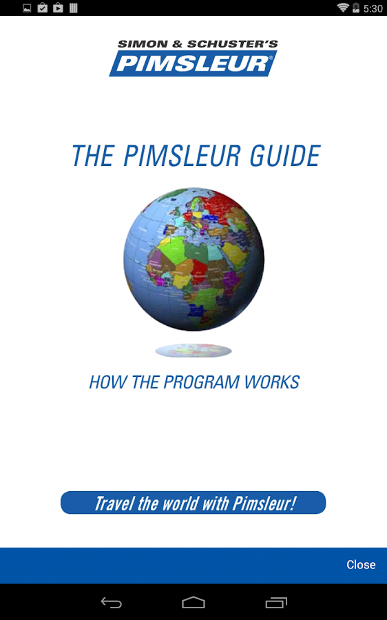 Pimsleur Course Manager App- screenshot
