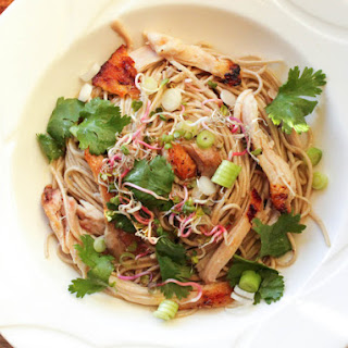 Shredded Chicken With Soba and Miso-Butter Sauce.