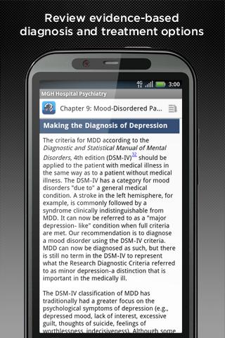 MGH Psychiatry- screenshot
