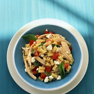 Pasta with Chicken, Tomato, and Feta.