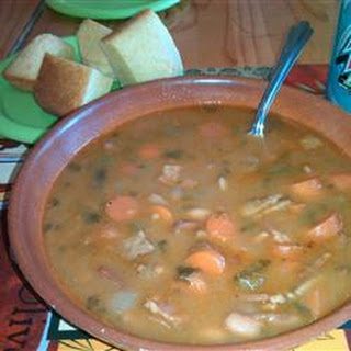 Spicy Bean with Bacon Soup