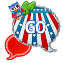 GO SMS - Fourth July Owl icon