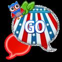 GO SMS - Fourth July Owl icon