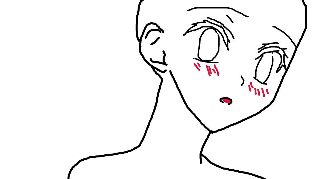 Anime Cat Boy Outline