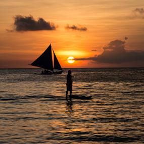 Sunset at Boracay by Samson Calma - Landscapes Sunsets & Sunrises ( sunset, boracay )