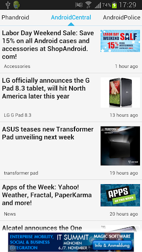 News on Android