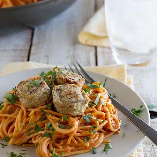Creamy One Pot Spaghetti with Meatballs