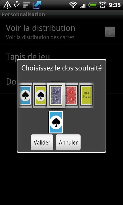 AndroBelote Free - screenshot