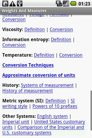 Weights and Measures FREE Guid- screenshot