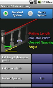 Baluster Calculator - Hoss Jr screenshot 1