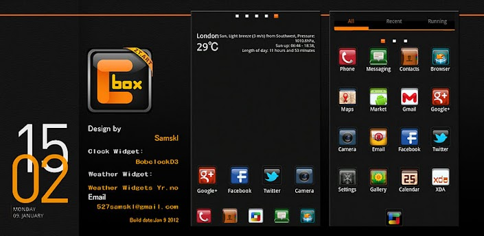 C Box Theme GO Launcher EX v1.0