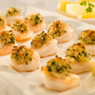Shrimp With Garlic Toasted Bread Crumbs.