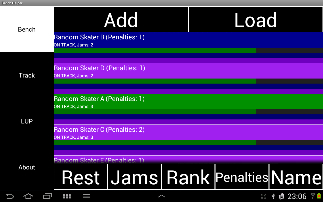 Bench Helper (Roller Derby)- screenshot
