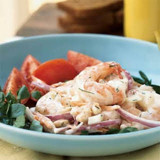 Shrimp and White Bean Salad with Creamy Lemon-Dill Dressing.
