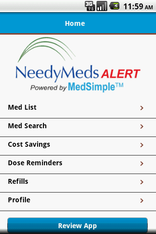 NeedyMeds Alert - screenshot
